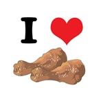 I Heart (Love) Chicken (Drumsticks)