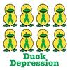 Depression Awareness Ribbon Ducks