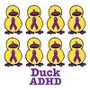 ADHD Awareness Ribbon Ducks