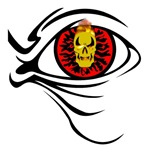 Flaming Skull Red Eye Ball
