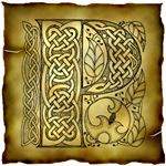 Celtic Knotwork Letter P