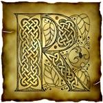 Celtic Knotwork Letter R