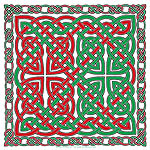Green & Red Celtic Knotwork
