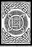 Celtic Knotwork Four Square Circle Illustration