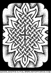 Celtic Knotwork Afire Illustration