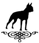 Boston Terrier Flourish