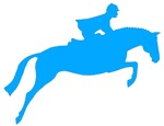 hunter jumper horse & rider - blue