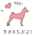 Love My Basenji Pink