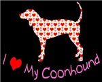 i heart (love)my coonhound