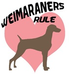 Weims Rule Pink Heart