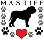 Mastiff Heart & Paws