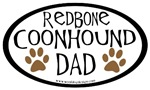 Redbone Coonhound Dad Oval