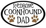 Redbone Coonhound Dad Oval
