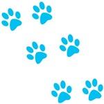 Blue Walk-On-Me Pawprints
