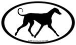 Azawakh Hound Dog Breed Oval Stickers