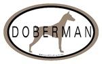 Doberman Pincher Dog Breed Oval Stickers
