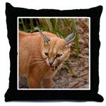 Caracal Lynx Throw Pillows