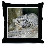Snow Leopard Throw Pillows