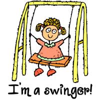 I'm a Swinger Swing Playground Playdate T Shirts G