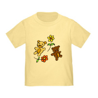 2 Cute Bears Flowers T Shirts Gifts