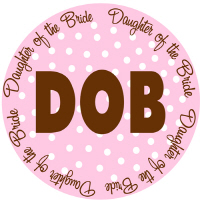 Polka Dot Wedding Party Daughter of Bride T Shirts
