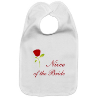 Wedding Party Red Rose Niece of the Bride T Shirt