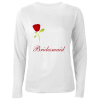 Wedding Party Red Rose Bridesmaid T Shirt