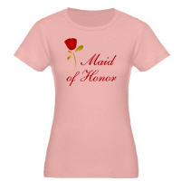 Wedding Party Red Rose Maid of Honor T Shirt