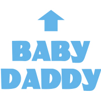 Funny Baby Daddy Arrow Expecting Dad T-Shirts