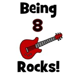 Being 8 Rocks!  Guitar