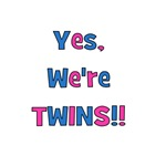 Yes, We're Twins!  Blue & Pink