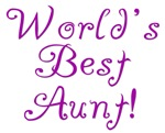 World's Best Aunt - Purple