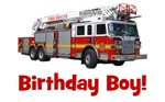 Birthday Boy Fire Truck