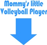 Mommy's Little Volleyball Player Blue