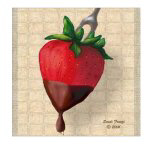 Chocolate Dipped Strawberry Tile Gifts