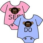Twins Monkey See & Monkey Do