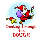 Funny Santa Dashing Through the DOUGH