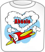 Love Abuelo T-Shirt Cute Airplane