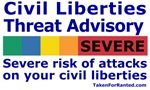 Civil Liberties Threat Advisory Tee Shirt