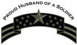 Proud Husband of a Soldier, Stars & Stripes©, ACU