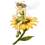 Fairy on a Sunflower