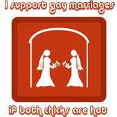 support gay marriage if both chicks hot