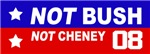 NOT BUSH - NOT CHENEY 2008
