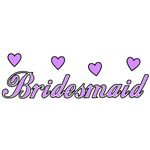 Bridesmaid Wedding Hearts