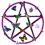 Wiccan Star and Butterflies