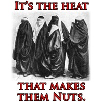 It's the Heat that Makes them Nuts | Anti Islam T-shirts &  Muslim Gifts