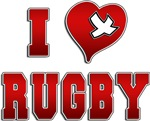 I Love Rugby T-Shirts Gifts