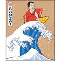 Bansai Surfer T-Shirt & Gifts
