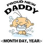 Personalize New Daddy T-Shirts Gifts