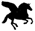 Winged Unicorn Silhouette